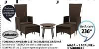 Masa + 2 scaune  + 2 taburete Torekov