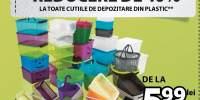 Reducere de 40% la toate cutiile de depozitare din plastic