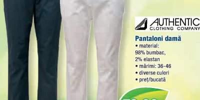 Pantaloni dama cu curea Authentic