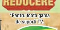 30% reducere pentru toata gama de suporti TV