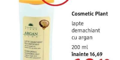 Lapte demachiant cu argan, Cosmetic Plant