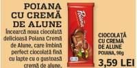 Ciocolata  cu crema de alune Poiana