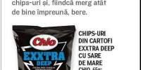Chips-uri din cartofi Exxtra Deep cu sare de mare