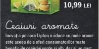 Ceai verde cu aroma de macaroon si de lamaie Lipton