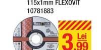 Disc taiere aluminiu 115x1 milimetri Flexovit