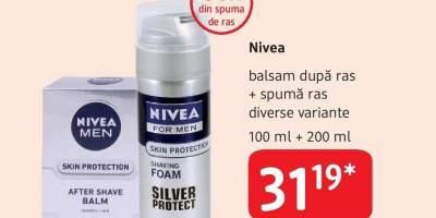 Balsam dupa ras + spuma ras Nivea