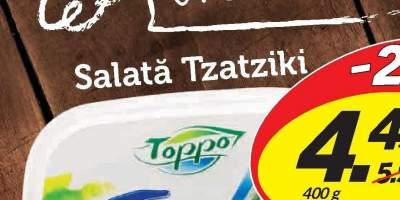 Salata Tzaziki, Toppo