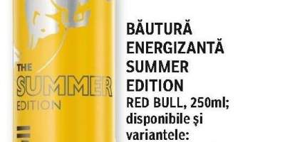 Bautura energizanta Summer Edition, Red Bull