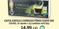 Cafea capsule espresso Perou Suave Bio, Casino