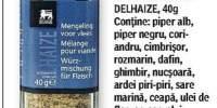 Rasnita de condimente pentru carne, Delhaize
