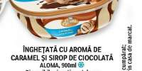 Inghetata cu aroma de caramel si sirop de ciocolata