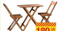Set masa si 2 scaune Porto salcam