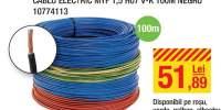 Cablu electric MYF 1,5 H07 V-K 100 metri negru