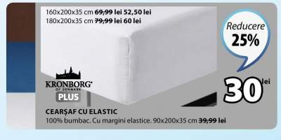 Cearsaf cu elastic Kronborg