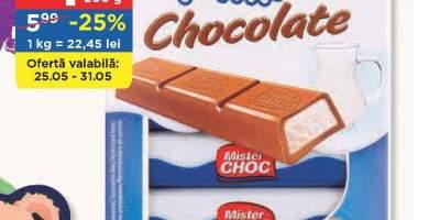 Batoane de ciocolata cu crema de lapte, Mister Choc
