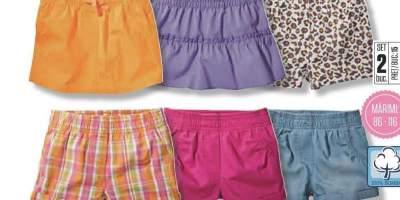 Set pantaloni scurti/ fuste