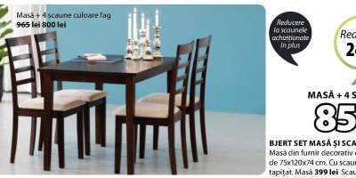 Set masa si scaune Bjert