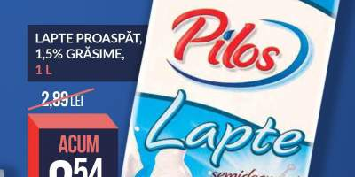 Lapte proaspat Pilos 1.5% grasime