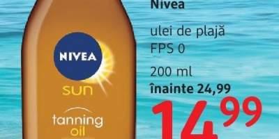 Ulei de plaja FPS 0, Nivea