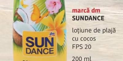 Lotiune de plaja cu cocos FPS 20, Sundance marca dm