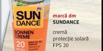 Crema protectie solara FPS 20, Sundance