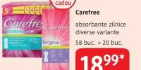 Carefree absorbante zilnice