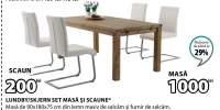 Set masa si scaune Lundby/Skjern