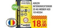 Adeziv interior/exterior 25 kilograme Weber H20