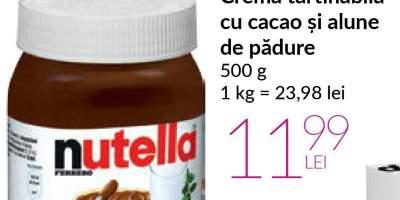 Crema tartinabila cu cacao si alune de padure, Nutella