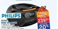 Radio CD portabil, AZ328, Philips