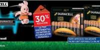 30% reducere la tot sortimentul de baterii si acumulatori Duracell