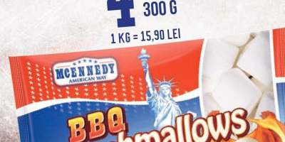 Marshmallows barbeque desert din spuma de zahar