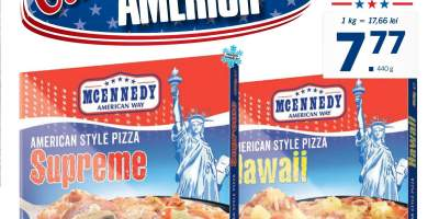 Pizza in stil american