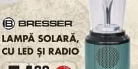 Lampa solara cu led si radio