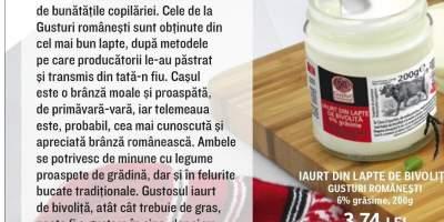 Iaurt din lapte de bivolita, Gusturi Romanesti