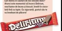 Baton de ciocolata cu bezea si biscuit, Delirium