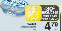 Crema de branza Light, President