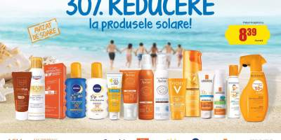 30% reducere la produsele solare