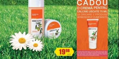 La cumpararea a doua produse Herbosophy primesti o crema pentru calcaie!