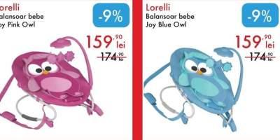 Balansoar bebe Joy Pink/ Blue Owl, Lorelli
