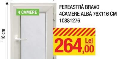 Fereastra Bravo 4 camere, alba