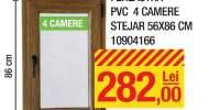 Fereastra PVC 4 camere stejar