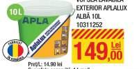 Vopsea lavabila exterior Aplalux alba 10 litri