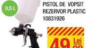 Pistol de vopsit rezervor plastic