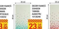 Decor faianta 25x40 centimetri Tamara portocaliu/ albastru/ rosu