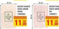 Decor faianta 40x25 centimetri Arena beige/ verde/ gri/ albastru