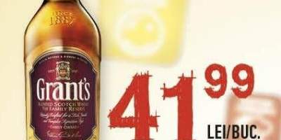Whisky 40% alcool, Grant's