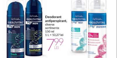 Deodorant antiperspirant, Gerovital H3