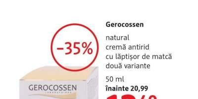Crema antirid cu laptisor de matca, Gerocossen Natural