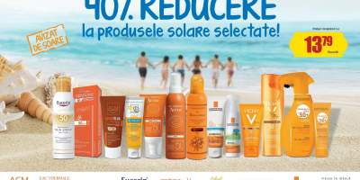 40% reducere la produsele solare selectate